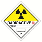 Клас 7 Радиоактивно вещество Категория III – жълт