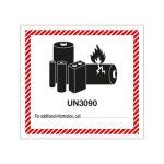UN3090 Lithium metal batteries mark