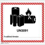 UN3091 Lithium metal battery mark