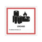 UN3480 Lithium Ion Batteries Mark